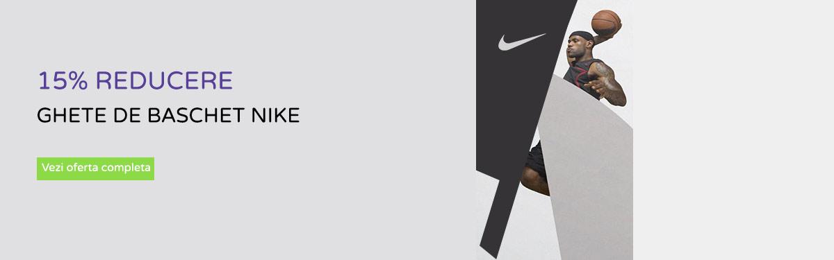 15% reducere ghete baschet Nike