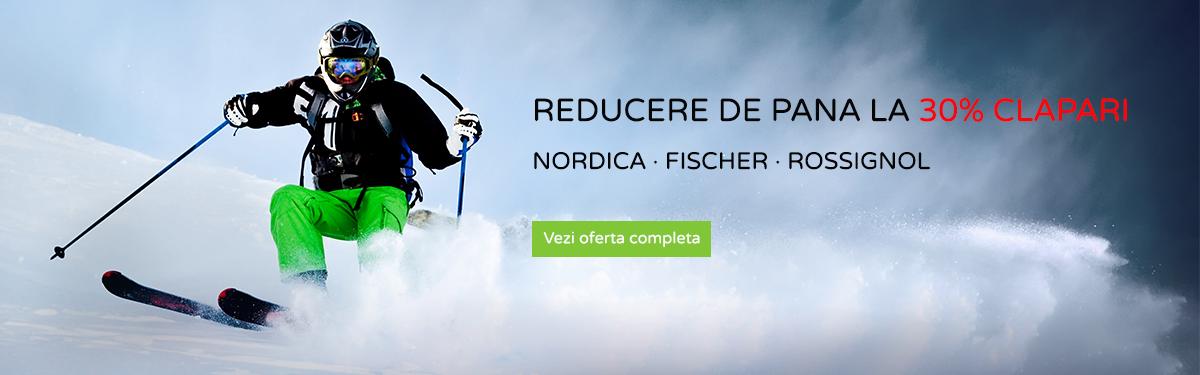 Reducere clapari Nordica, Fischer, Rossignol