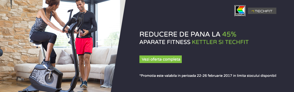 Reducere aparate fitness Kettler si Techfit